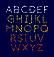 dotted alphabet vector image
