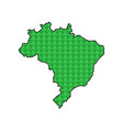 dotted line map of brazil vector image