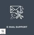 e-mail support line icon vector image