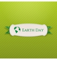 Earth Day white Banner and festive Ribbon vector image vector image