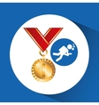 extreme sport avatar diving and medal vector image vector image