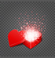 gift box and hearts confetti isolated on vector image vector image