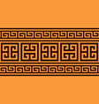 greek key pattern seamless design in brown vector image vector image