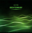 green technology background energy vector image