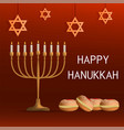 happy jewish hanukkah concept background vector image