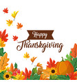 happy thanksgiving day design vector image