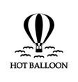 hot balloon icon vector image vector image