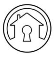 house lock concept symbol vector image vector image