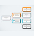 infographic flow chart template vector image