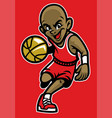 kid playing basketball vector image