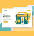 landing page template consumer protection vector image