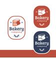 letter b for bread bakery logo vector image vector image