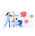 man and woman doctors fighting with coronavirus vector image