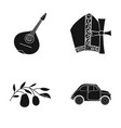 mandolin papa olive retro autoitaly country vector image vector image