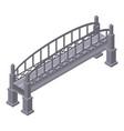 metal bridge icon isometric style
