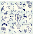 My Home pen doodles on squared paper vector image vector image