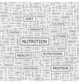 NUTRITION vector image vector image