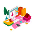 online fashion shopping composition vector image