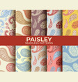 paisley pattern set vector image vector image