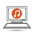 pc device network music media icon vector image