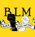 protest poster with text blm black lives matter vector image