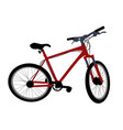 red bicycle on white background vector image vector image