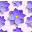 Seamless pattern with purple summer flowers vector image