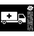 Service Car Icon With Tools Bonus vector image vector image