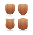 set of empty wooden shapes vector image vector image