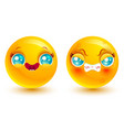 set two smiles vector image vector image