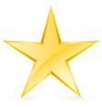 Shiny Gold Star vector image vector image