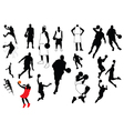 Silhouettes of sports players vector image vector image