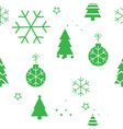 simple christmas seamless pattern with green vector image vector image