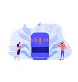 smart speaker apps marketplace concept vector image vector image