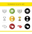 Soccer championship icons vector image vector image