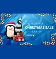 special offer christmas sale up to 50 off blue vector image
