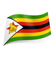 State flag of Zimbabwe vector image vector image