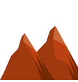 two mountain natural flora land scene vector image vector image