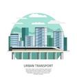 Urban Railway Transport Orthogonal Design vector image vector image