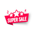 vecgtor super sale label flag with star icon vector image vector image