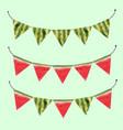 watercolor watermelon flags vector image vector image