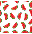 watermelon background with black seeds seamless vector image vector image