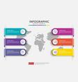 web6 steps infographic timeline design template vector image vector image