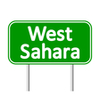 West Sahara road sign vector image vector image