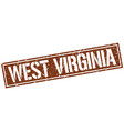 west virginia brown square stamp vector image vector image
