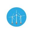 Wind Turbines Icon vector image vector image