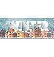 Winter cityscapeCity silhouettesTown skyline vector image