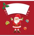 winter label with Santa Claus vector image vector image