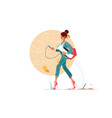 young attraction businesswoman going to work vector image vector image