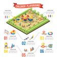 isometric playground infographic concept vector image